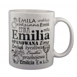 Kubek z imieniem Emilia