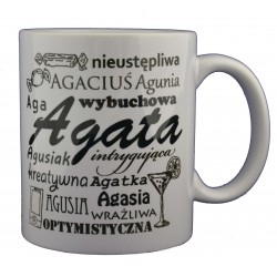 kubek z imieniem Agata