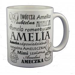 Kubek z imieniem Amelia