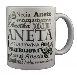 Kubek z imieniem Aneta