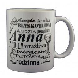 Kubek z imieniem Anna