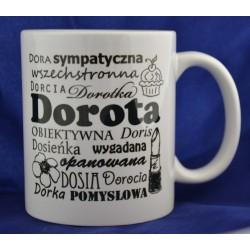 Kubek z imieniem Dorota