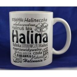 Kubek z imieniem Halina